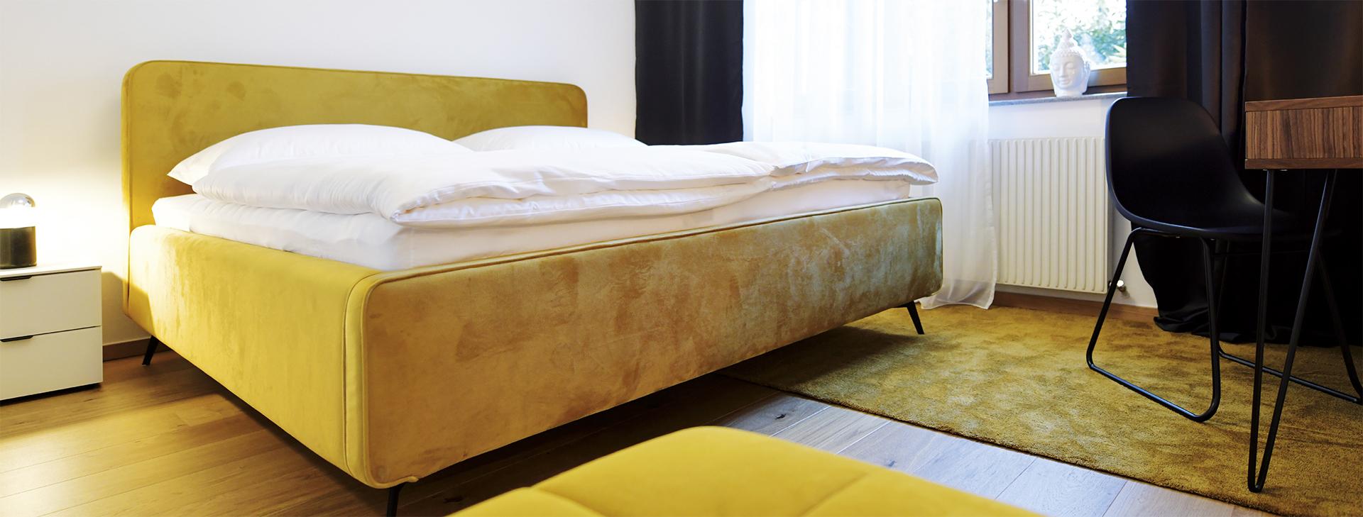Doppelbett in Johannas Ferienwohnung