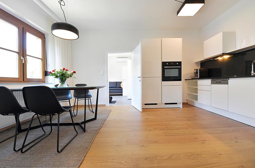 Küche in Johannas Ferienwohnung