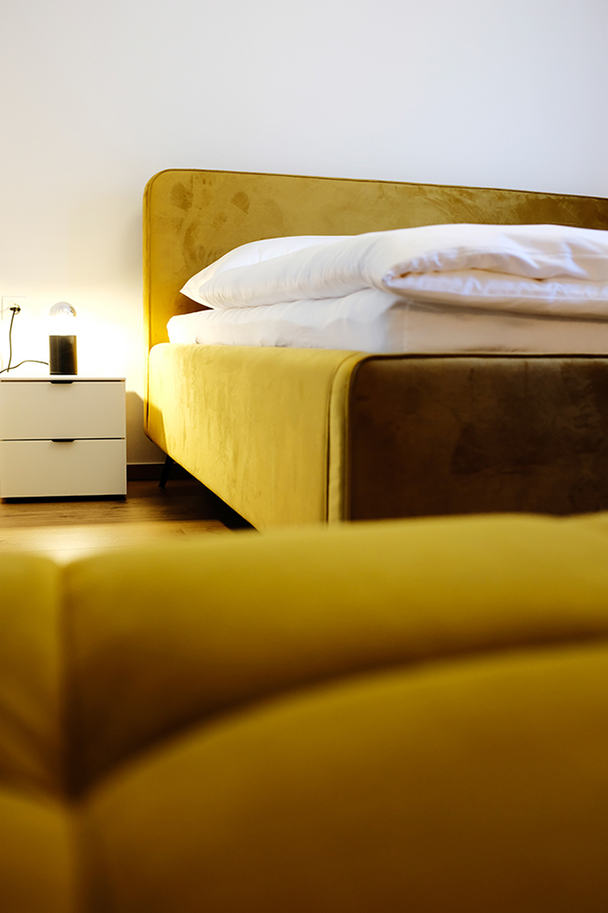 Bett in Johannas Ferienwohnung